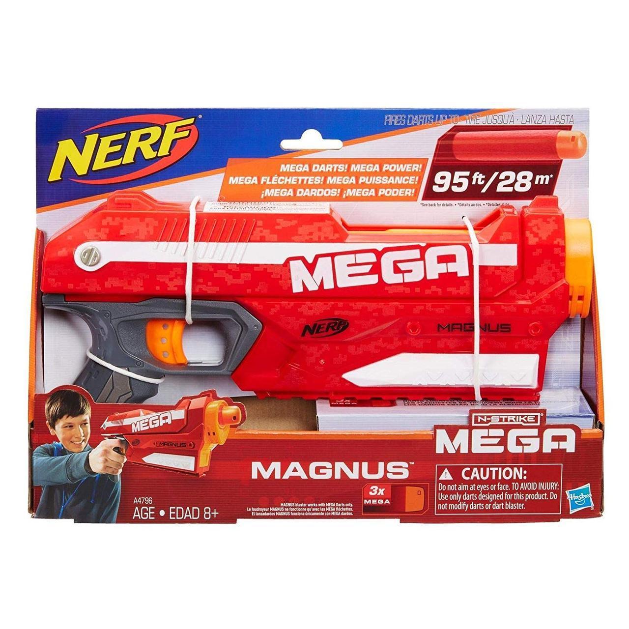 Бластер с мягкми пулями Магнус - Magnus, Blaster, Mega, Nerf, Hasbro (A4887)
