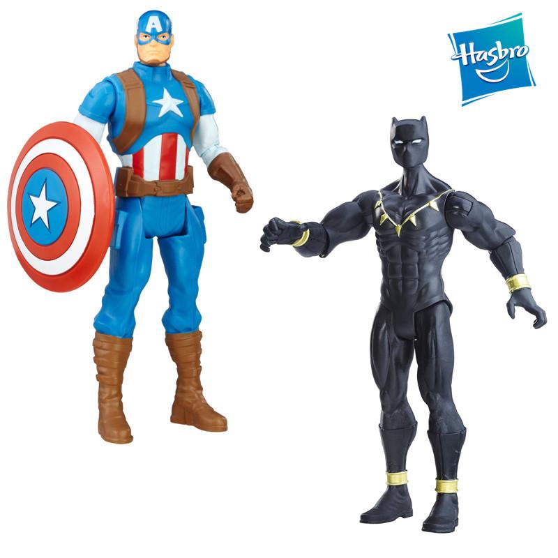 "Набор супергероев Черная Патера, капитан Америка ""Мстители"" - Captain America, Black Panther, Avengers, Hasbro"