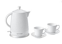 Електрочайник керамічний Concept RK-0040 (з кухликами для чаю у комплекті!) 1500 W