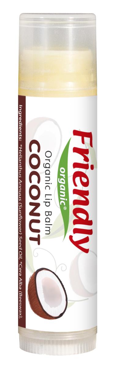 Органический бальзам для губ Friendly organic кокос 4,25 гр