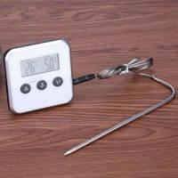 Кухонный/лабораторный термометр/таймер COOK 250C White с щупом иглой