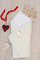 Конверт- одеяло  вязка+ махра Добрый Сон 83х83 см 8-02
