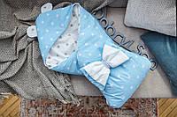 """Конверт-одеяло для малыша  Добрый Сон """"Капюшон с ушками Мишки"""" 100*80 см"""