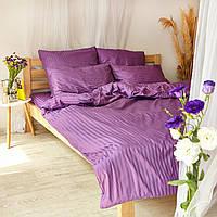 Комплект взрослого постельного белья Пурпур Страйп ТМ DS Home Line H07P, фото 1