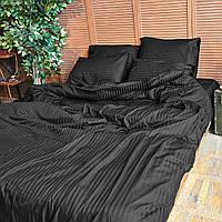 Комплект взрослого постельного белья Блек Страйп ТМ DS Home Line H08P, фото 1