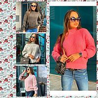 Женский вязаный свитер /разные цвета, 42-44, PF-8380/