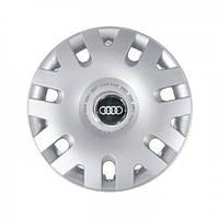 """Колпаки для колес 14"""" c логотипом автомобиля 4 шт (SKS 204) Ауди"""
