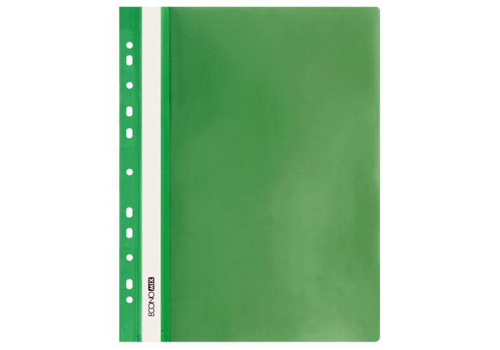 Папка скоросшиватель А4 Economix с перфорацией, зеленая