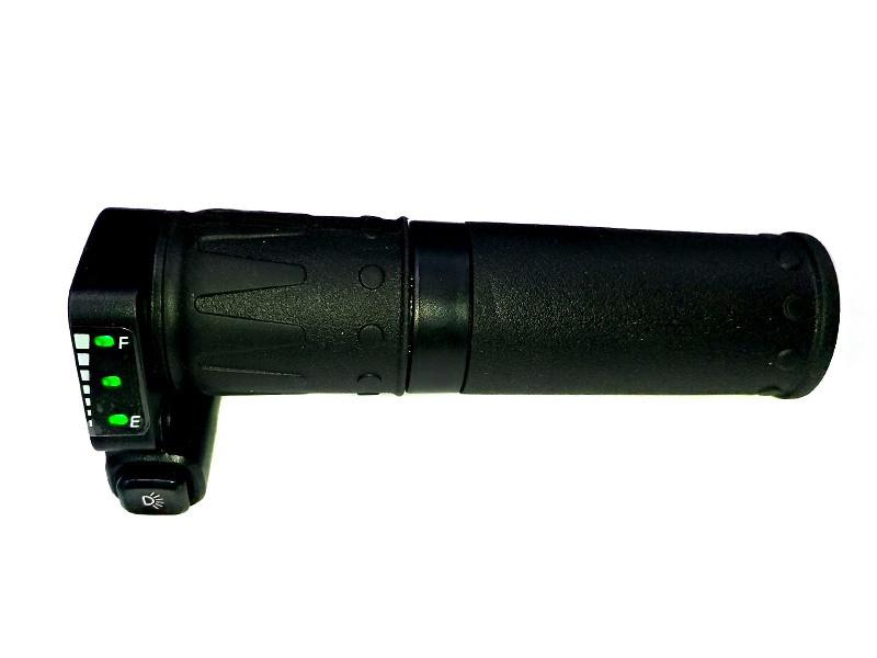 Ручка акселератора скутерная з індикатором LT62 36В типу грипшифт