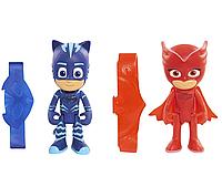 Набор фигурок Кэтбой + Cовка (оригинал) с подсветкой + браслет, Герои в масках - PJ Masks, Just Play