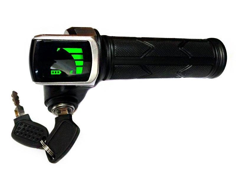 Ручка акселератора скутерная з замком запалювання і індикатором LT-122DX 48В