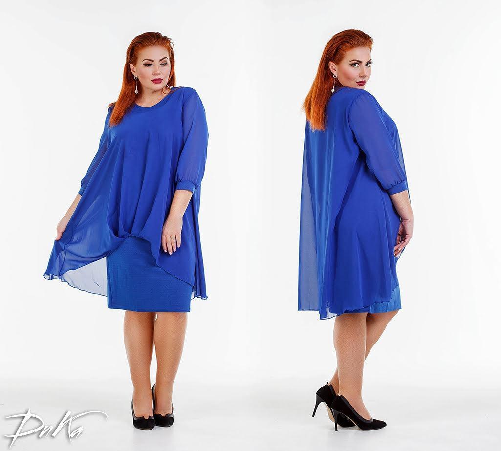 Платье  БАТАЛ нарядное в расцветках 0р41110