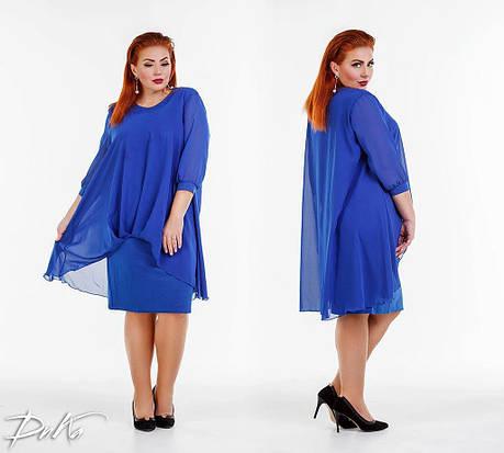 Сукня БАТАЛ ошатне в кольорах 0р41110, фото 2