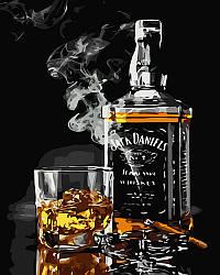Рисование по номерам Виски и сигара (BRM5001) 40 х 50 см (Без коробки)
