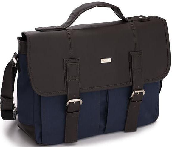 Купить Мужская сумка для ноутбука из эко кожи 15, 6 Solier синий