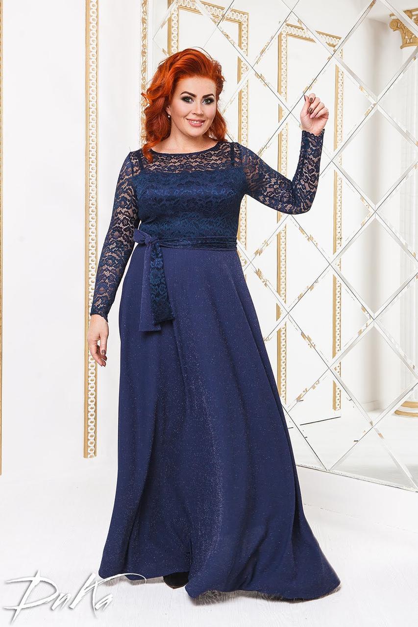 Сукня БАТАЛ в підлогу люрекс в кольорах 04с41.163.1