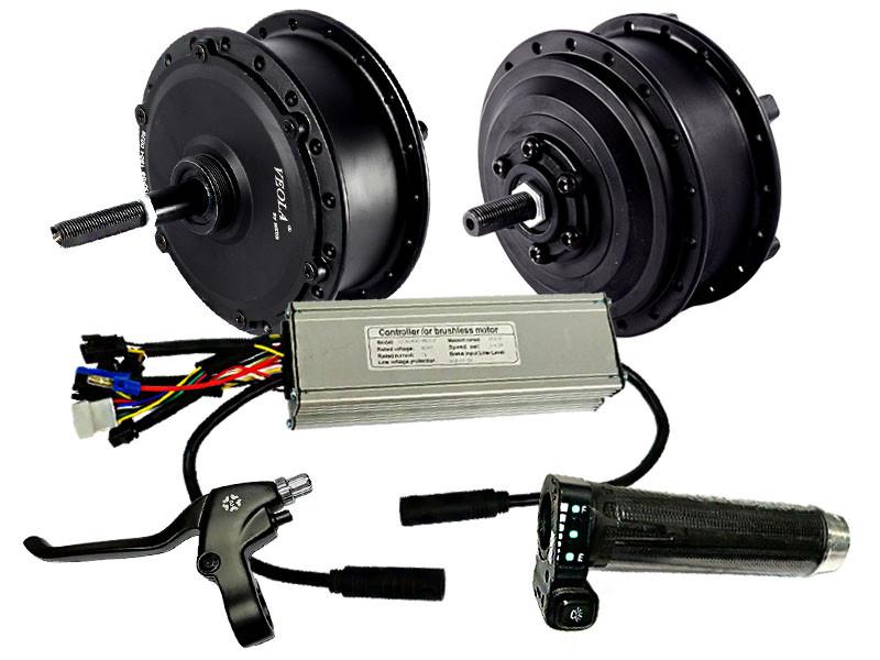 Электровелонабор c двумя моторами 36В 350Вт MXUS XF07F - XF08R
