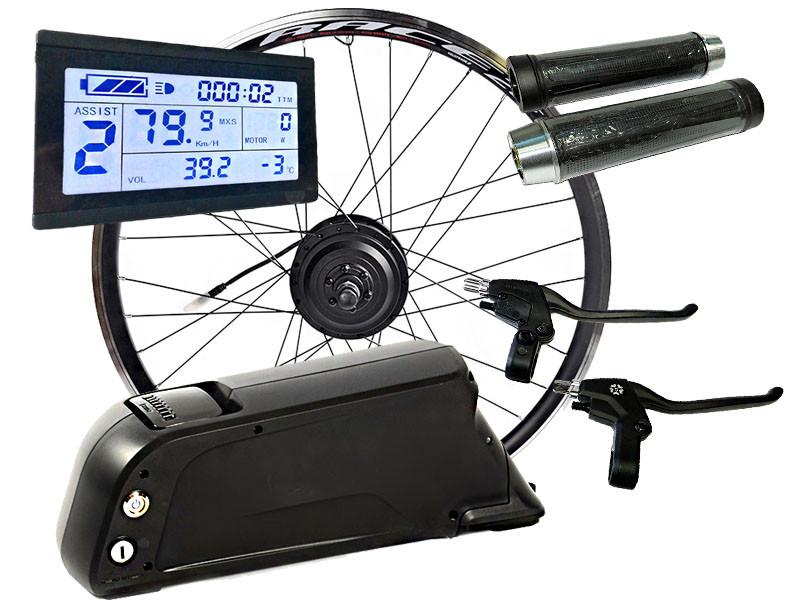 Электровелонабор заспицованый 36В 350Вт MXUS XF07-XF08 + АКБ 13,2 Ah+LCD
