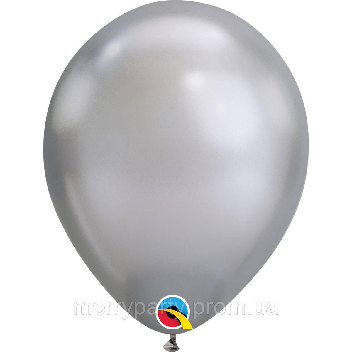 """7"""" (18 см) хром срібло Qualatex США латексний куля"""