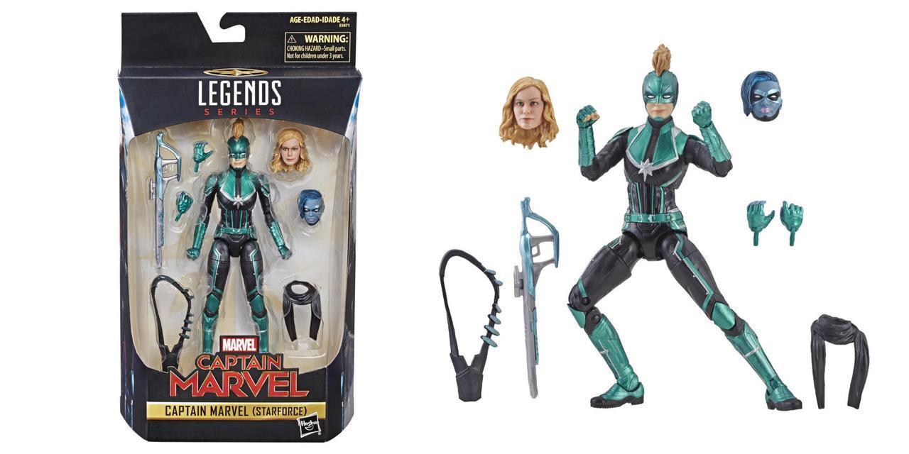 Фигурка, Капитан Марвел в зеленой форме, Легенды Марвел - Captain Marvel, Hasbro, Green KO, Marvel Legends