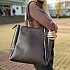 """Женская повседневная сумка для документов коричневая """"Клавдия Brown"""""""