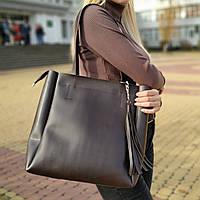 """Женская повседневная сумка для документов коричневая """"Клавдия Brown"""", фото 1"""