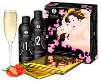 Гель для массажа Shunga ORIENTAL BODY-TO-BODY - Sparkling Strawberry Wine (2 x 225 мл) Original