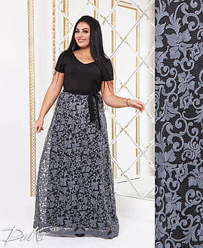 Платье в пол  БАТАЛ 04р15145, фото 2