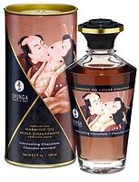 Разогревающее масло Shunga APHRODISIAC WARMING OIL - Intoxicating Chocolate (100 мл) Original