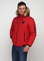 Мужская зимняя куртка Man's Wear (50) красная  МК3к