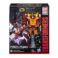 Трансформер 4в1 Родимус Прайм + Хот Род 23см - Rodimus + Hot Rod, Power of the Primes, Leader Class, Hasbro, фото 1