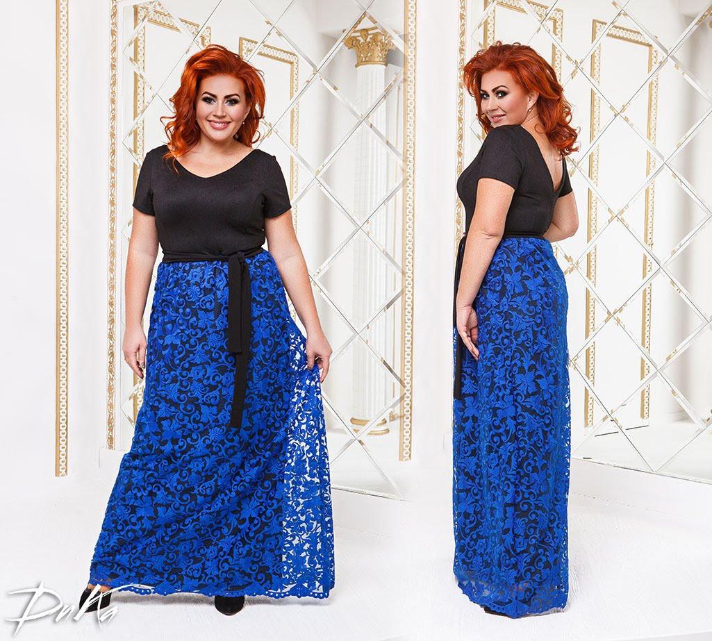 Платье в пол  БАТАЛ 04р15145