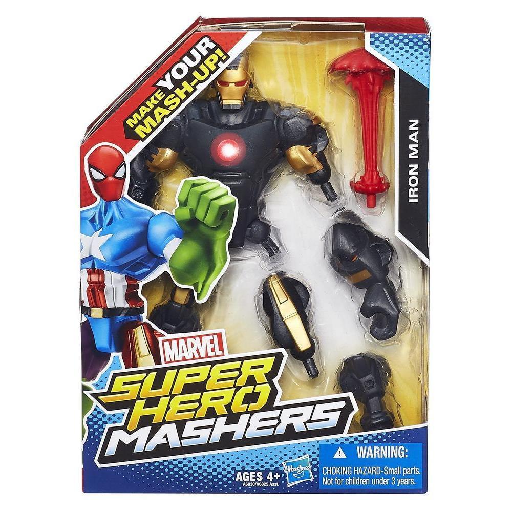 Копия Разборная фигурка Железный Человек в броне №40 - Iron Man, Marvel, Mashers, Hasbro