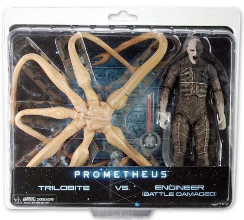 Набор фигурок Трилобит против Инженера - Trilobite vs Enginee, Battle-Damaged, Neca, Prometheus
