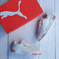 Кожаные женские кеды Puma Selena Gomez x Cali Bold Women's Sneakers / Пума, белые