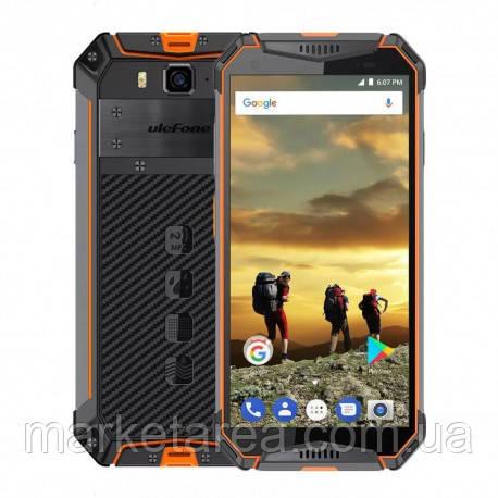 Смартфон защищенный оранжевый с большим дисплеем на 2 сим карты UleFone Armor 3W orange 6/64 гб NFC