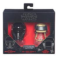 """Мини-шлемы имперского солдата-смертника и повстанца """"Звездные войны"""" - Star Wars, Black Series, Hasbro, фото 1"""