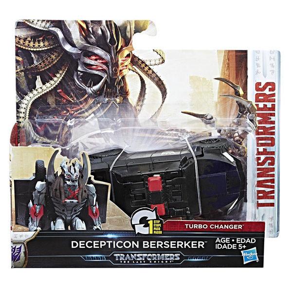 Трансформер десептикон Берсеркер в 1-шаг, 11 cм - Berserker, One step, Turbo Changer, TF5, Hasbro