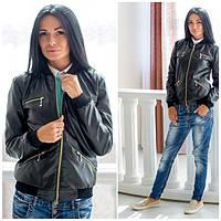 Стильная кожаная куртка Monik к-50153