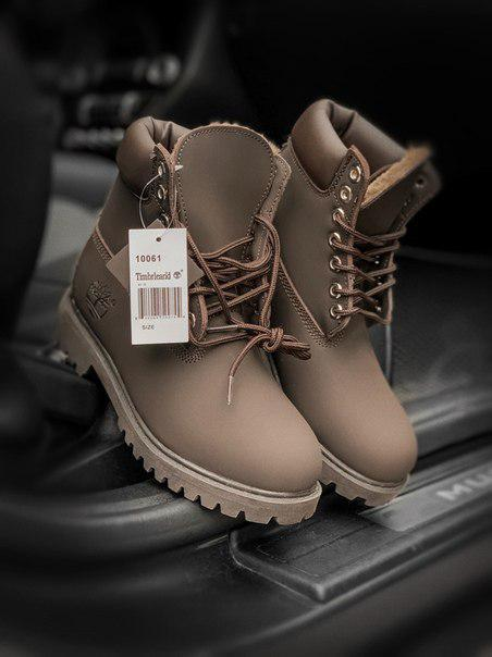 Зимние ботинки Timberland Brown нубук