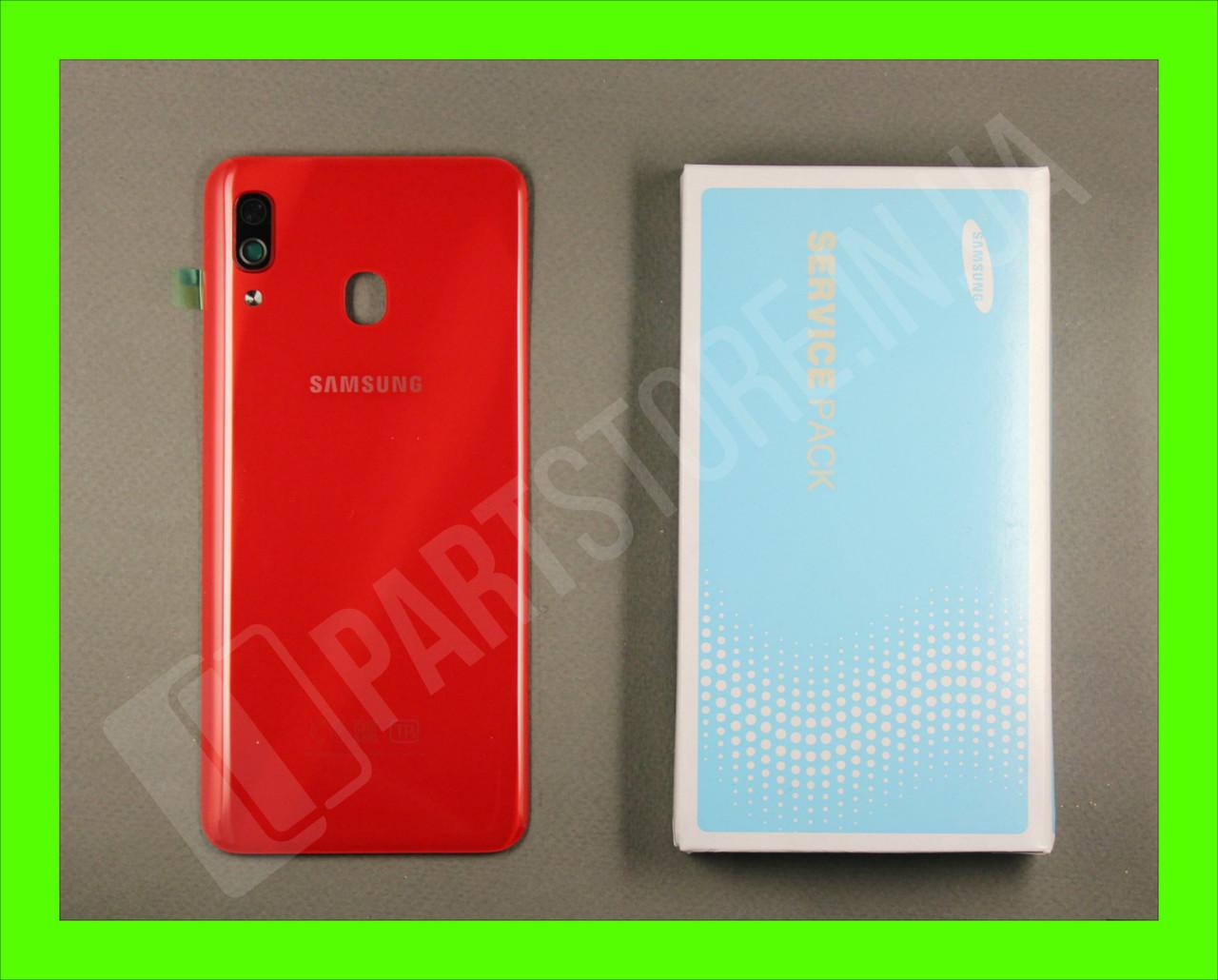 Cервисная оригинальная задняя Крышка Samsung A305 Red A30 2019 (GH82-19255D)