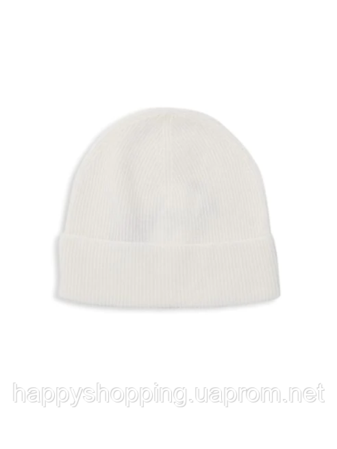 Женская белая кашемировая шапка Saks Fifth Avenue