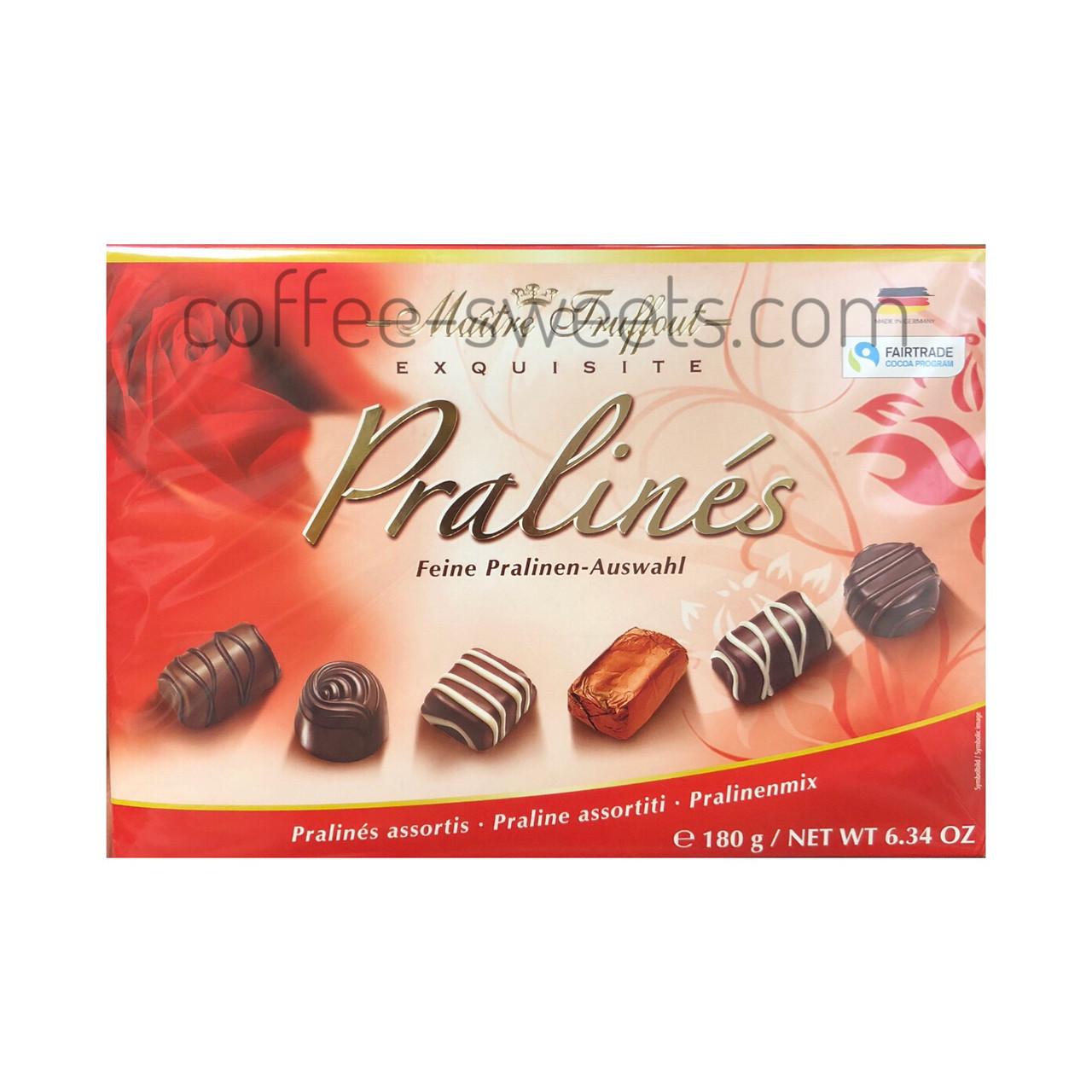 Конфеты Maitre Truffout Exquisite Pralines (красная) 180g