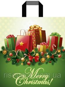 Пакет подарочный с петлевой ручкой Merry Christmas