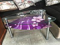 Журнальний стіл скляний