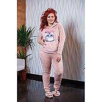 Пижама  БАТАЛ теплая в расцветках 04р15267, фото 3