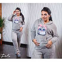 Пижама  БАТАЛ теплая в расцветках 04р15267, фото 2