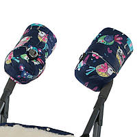 Зимние муфты на овчине для коляски, санок  Синие DoRechi (ДоРечі), фото 1