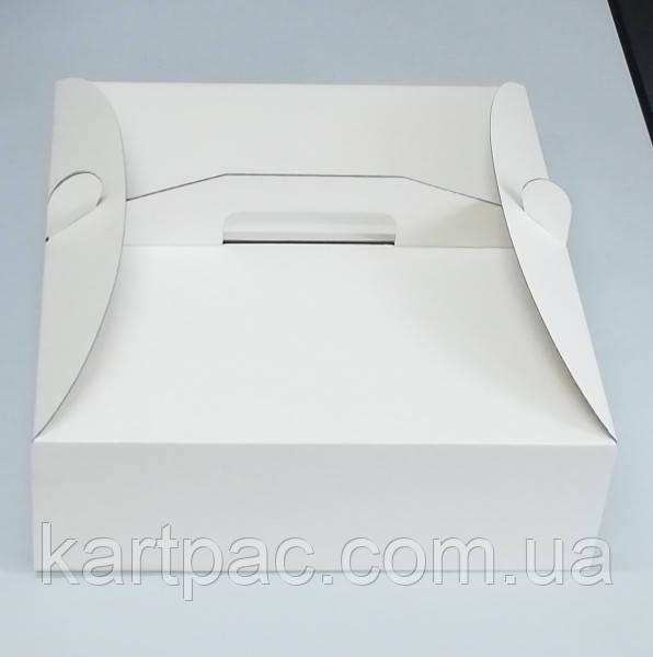 Коробка для тортов из гофрокартона низкая 250х250х100