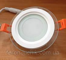 Светильник светодиодный Feron AL2110 6w LED встраиваемый со стеклом